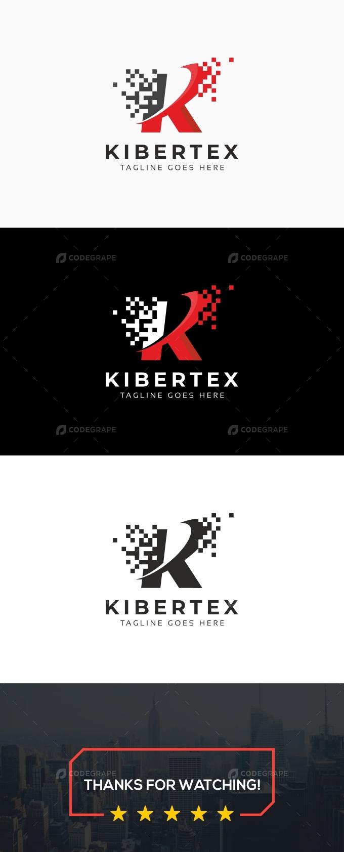 Kibertex - K Letter Logo