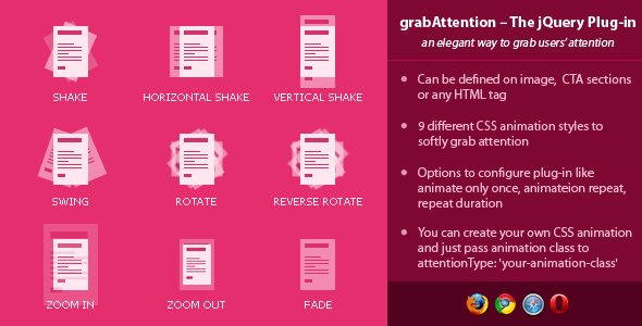 Grab Attention - jQuery Plugin
