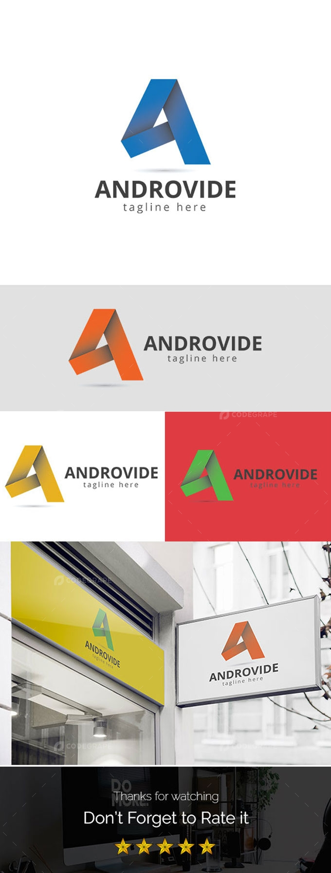 Androvide A Letter Logo