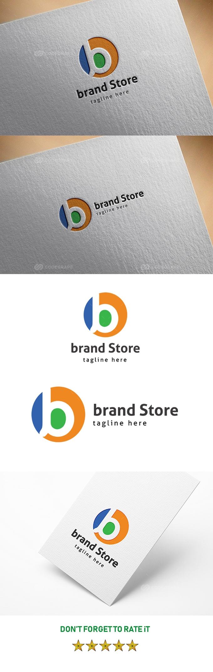 Brand Store B Letter Logo