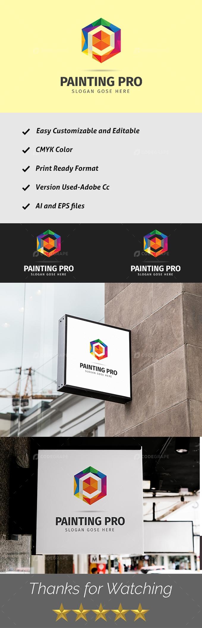 Painting Pro P Logo