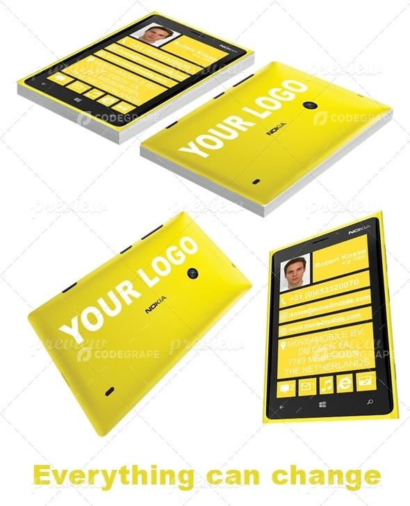 Nokia Business Card Yellow