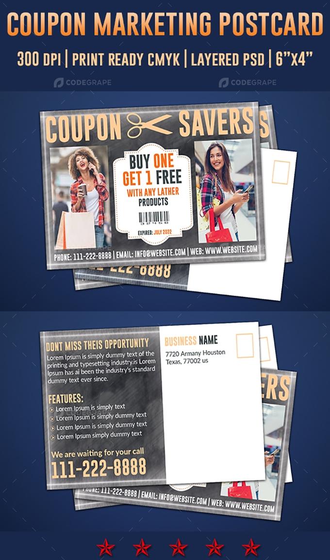 Coupon Postcard Design Template