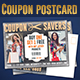 Coupon Postcard Design Template