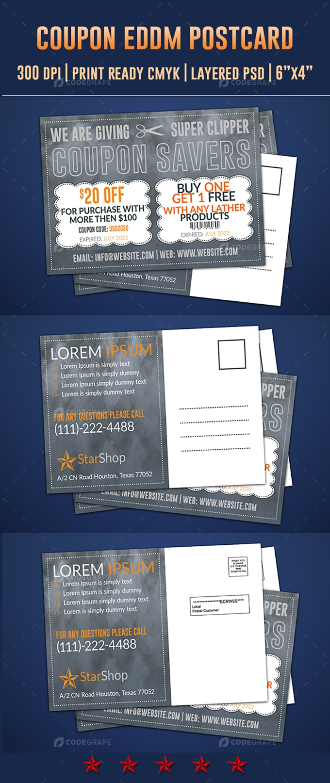 Coupon Postcard & Direct Mail EDDM Design Template