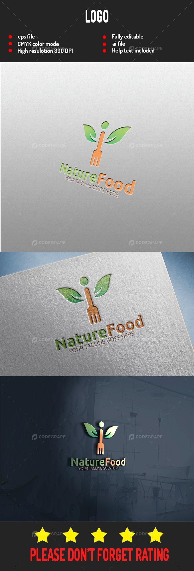 Nature Food Logo