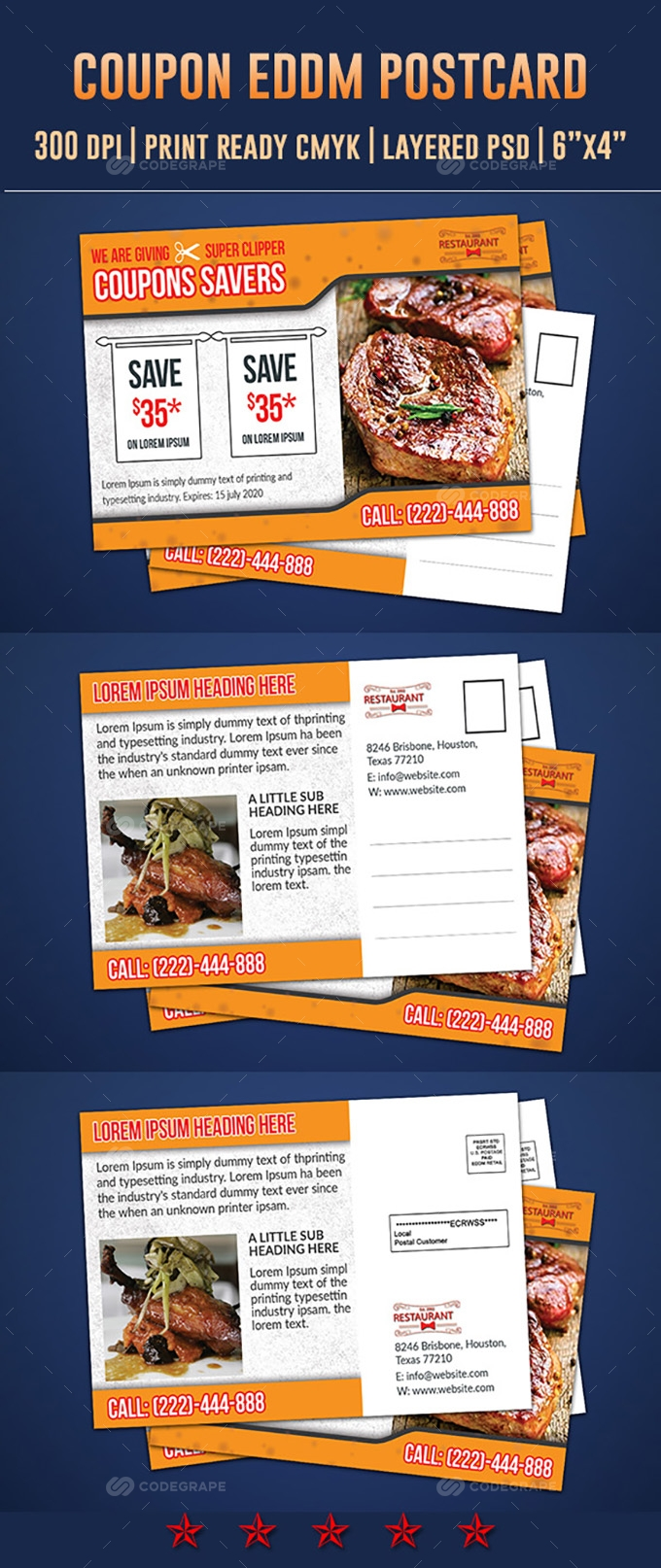 Coupon Postcard & EDDM Design Template