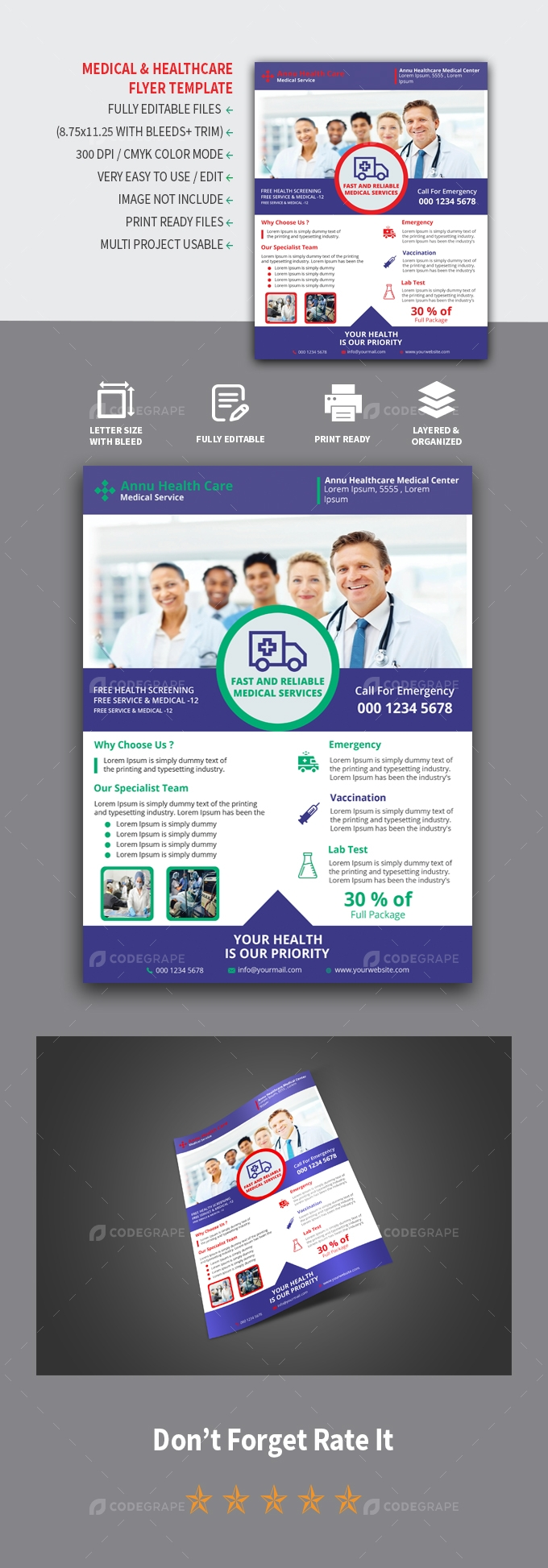 Medical Healthcare Flyer Design