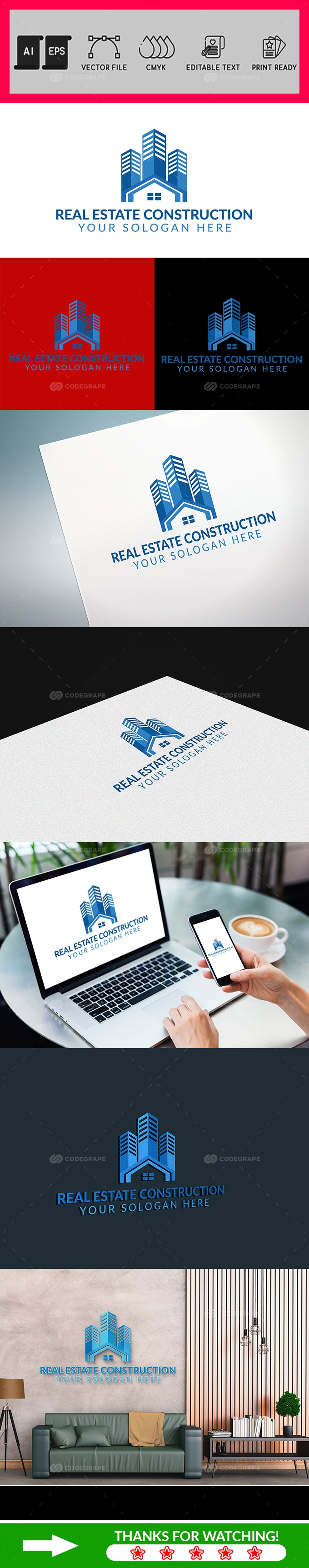 Real Estate Construction Logo Template