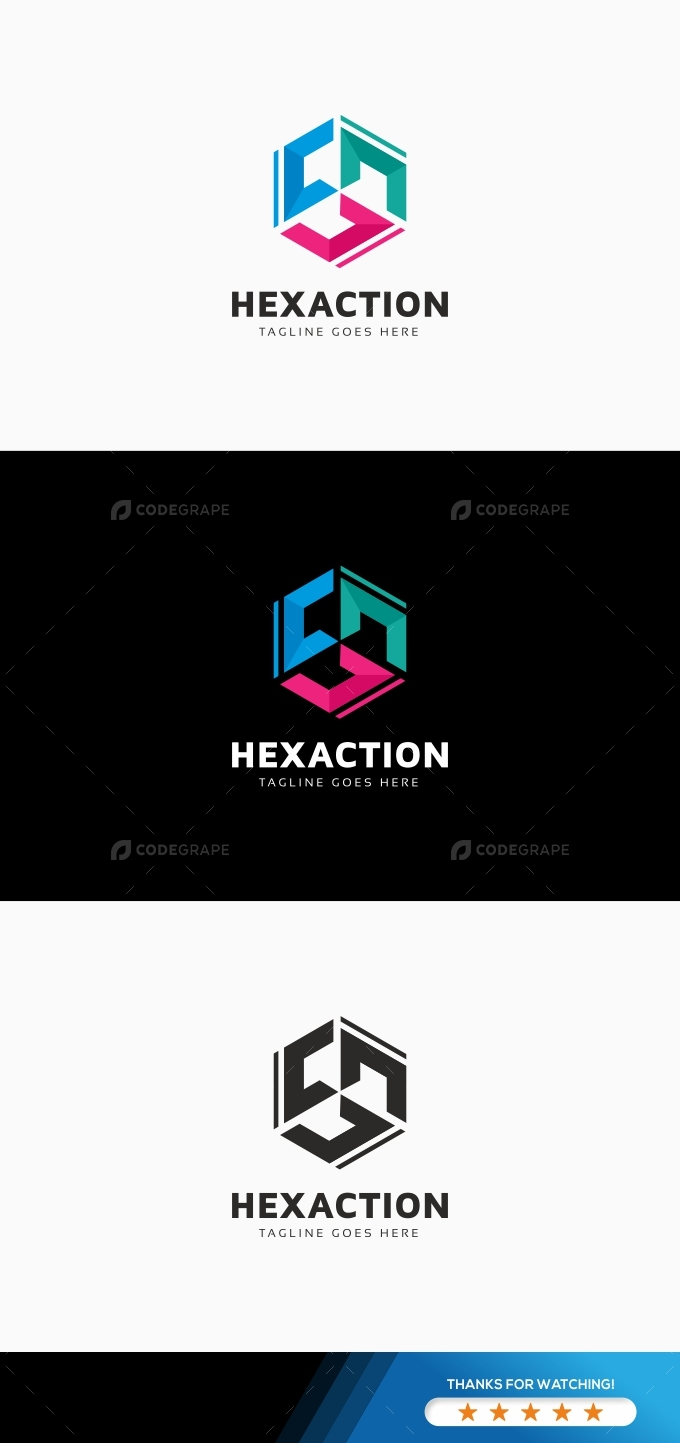 Hexagon C Letter Logo