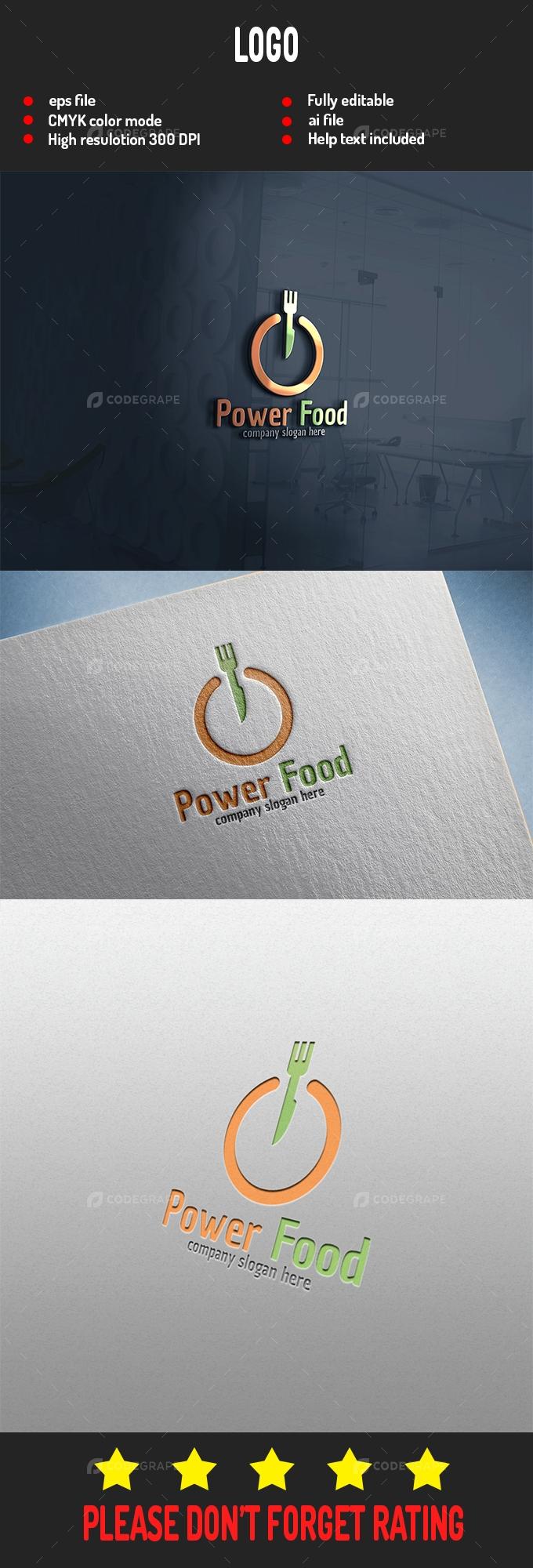 Power Food Logo