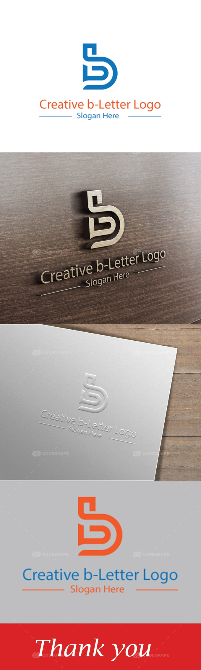 Creative b- Letter Logo