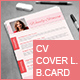 CV, Cover Letter, Business Card Set