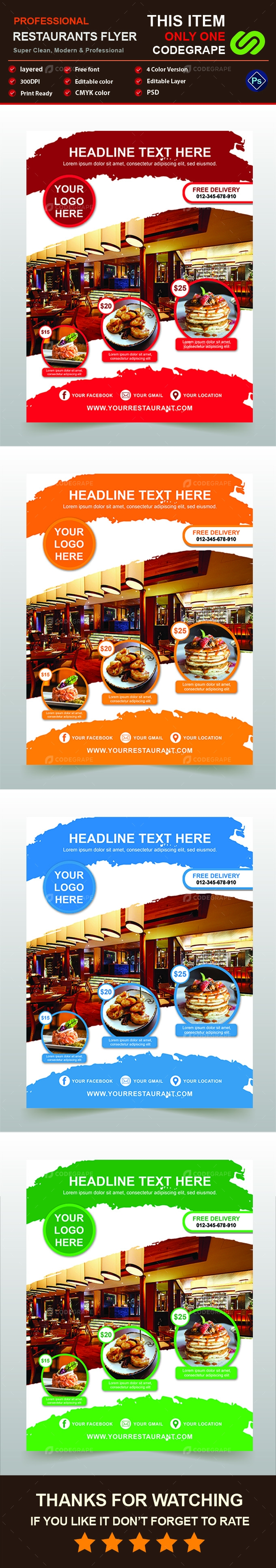 Restaurants Flyer Template