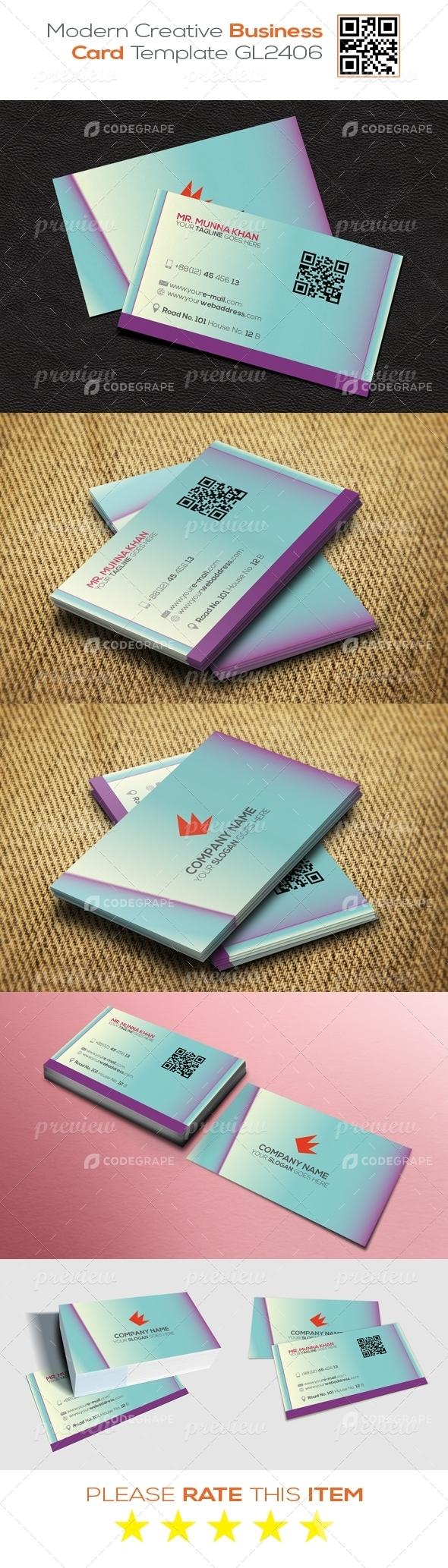 Modern Creative Business Card Template GL2406