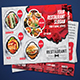 Restaurant Postcard & Direct Mail EDDM Postcard Design Template