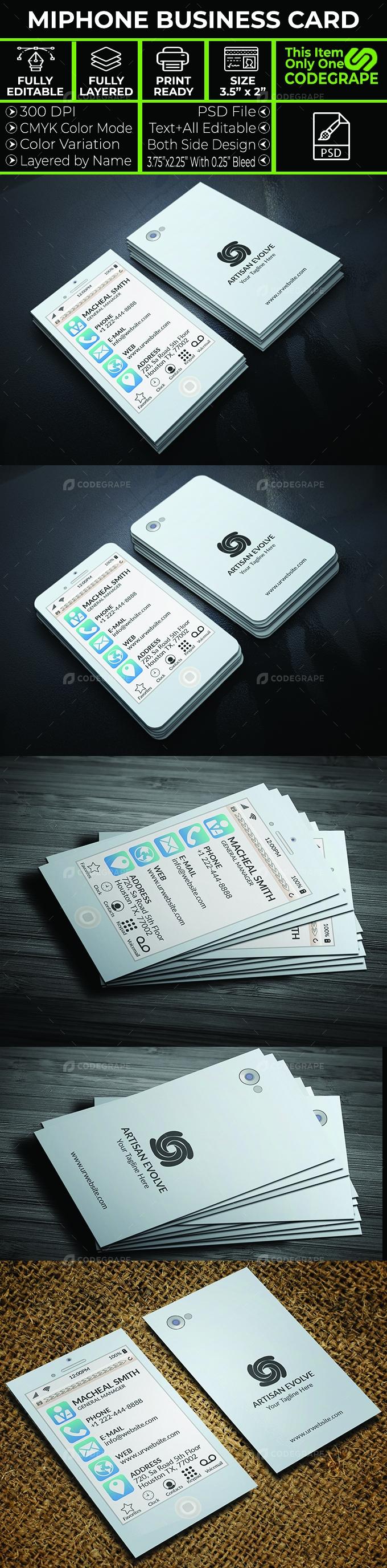 Miphone Business Card Design Template
