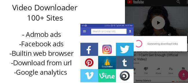 Video Downloader - Youtube and 100+ sites