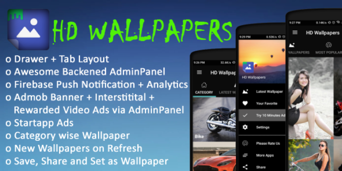 Android Wallpaper App with Admob and Startapp Ads