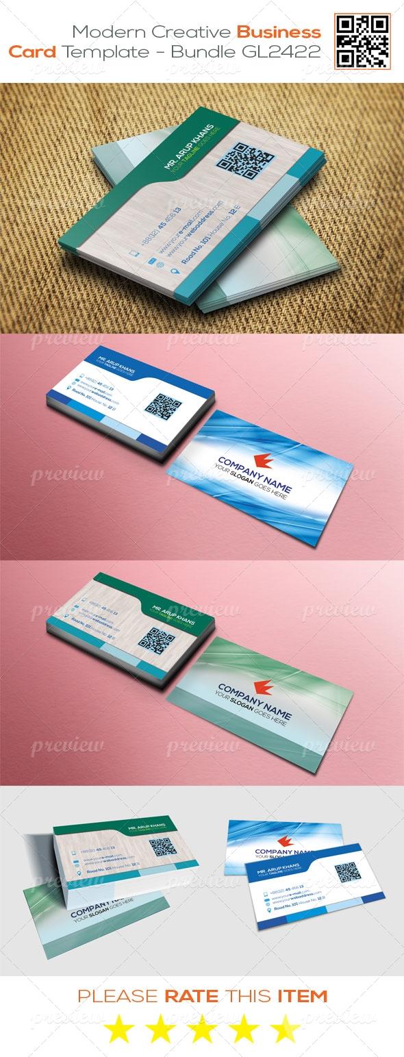 Modern Creative Business Card Template - Bundle GL2422