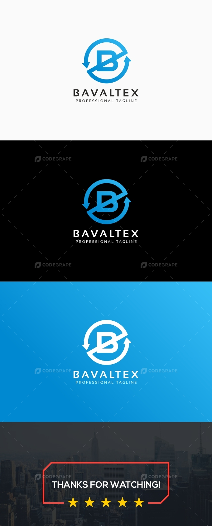 Bavaltex-B Letter Logo