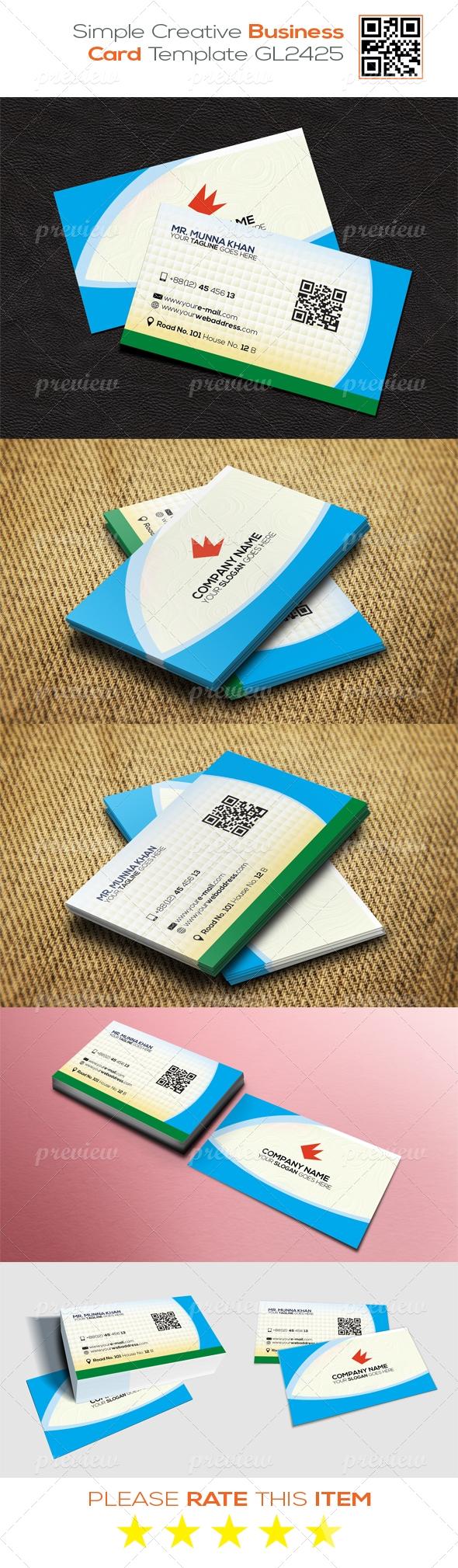 Simple Creative Business Card Template GL2426