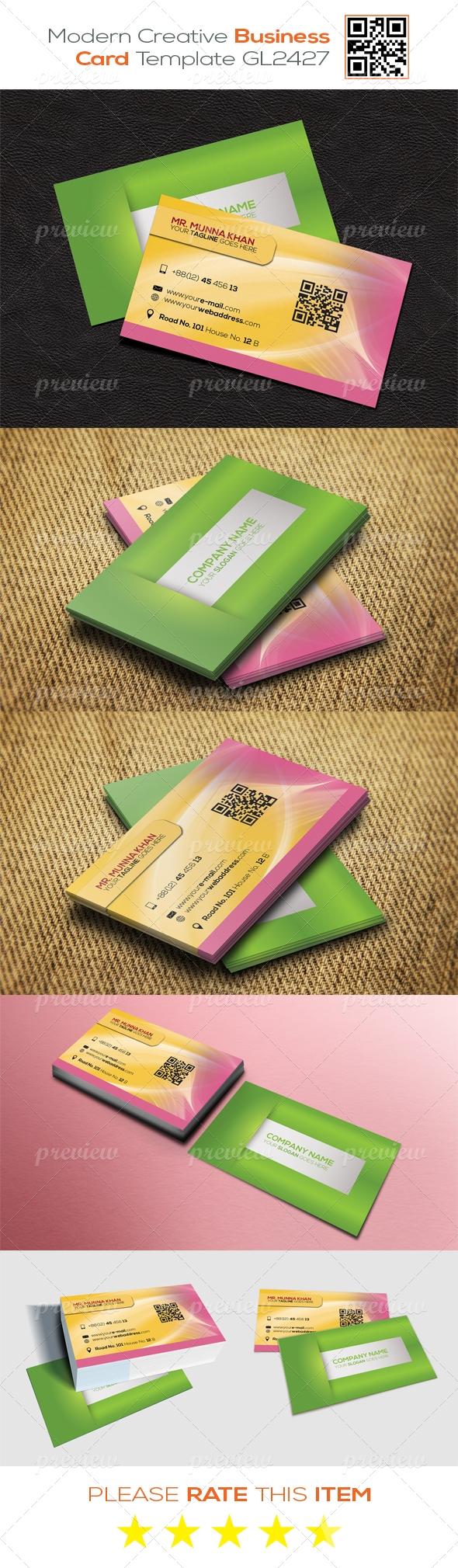 Modern Creative Business Card Template GL2427