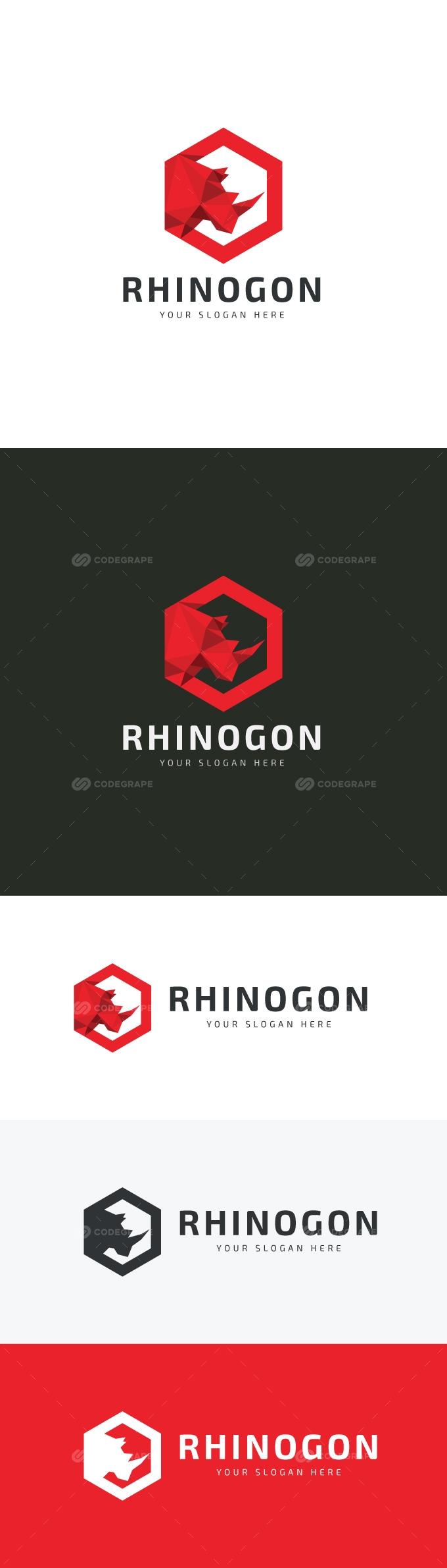 Rhino Hexagonal Logo