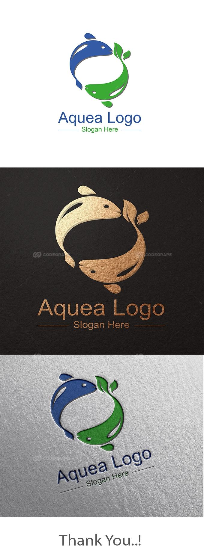 Aquea (Fish) Logo