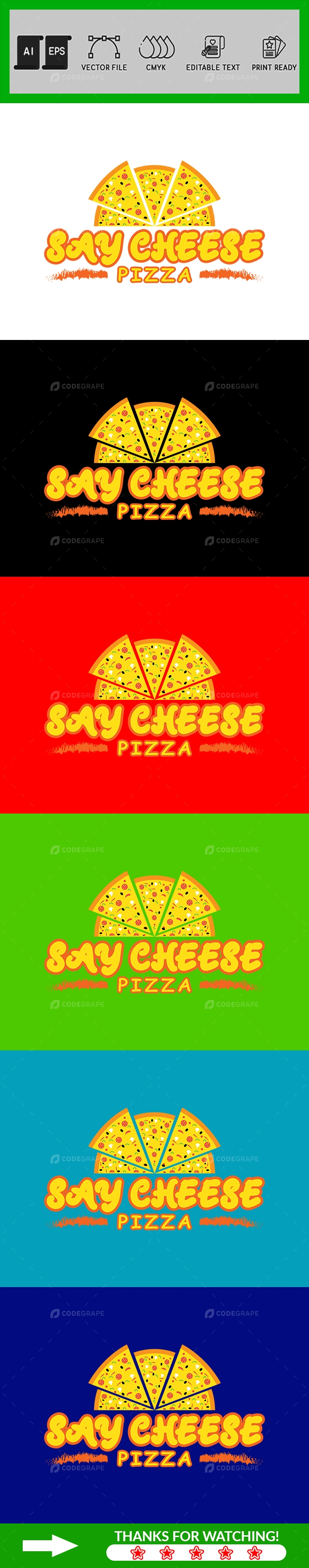 Pizza Logo Design Template