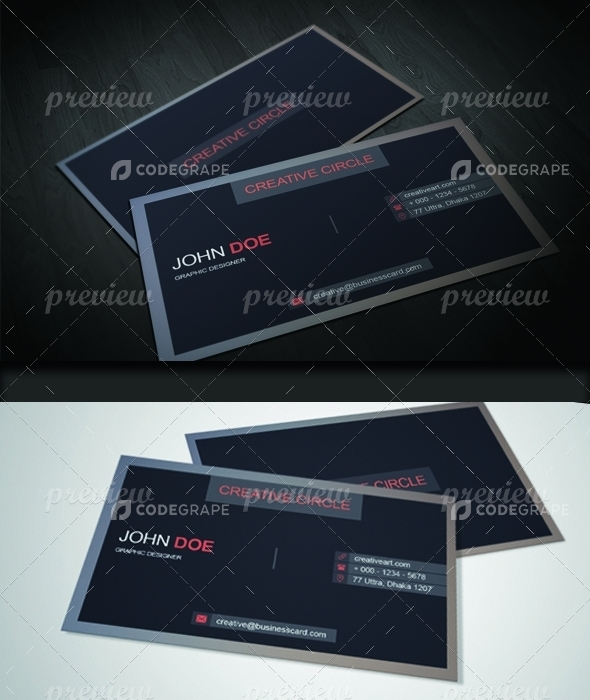 Flat Corporate Business Card Design