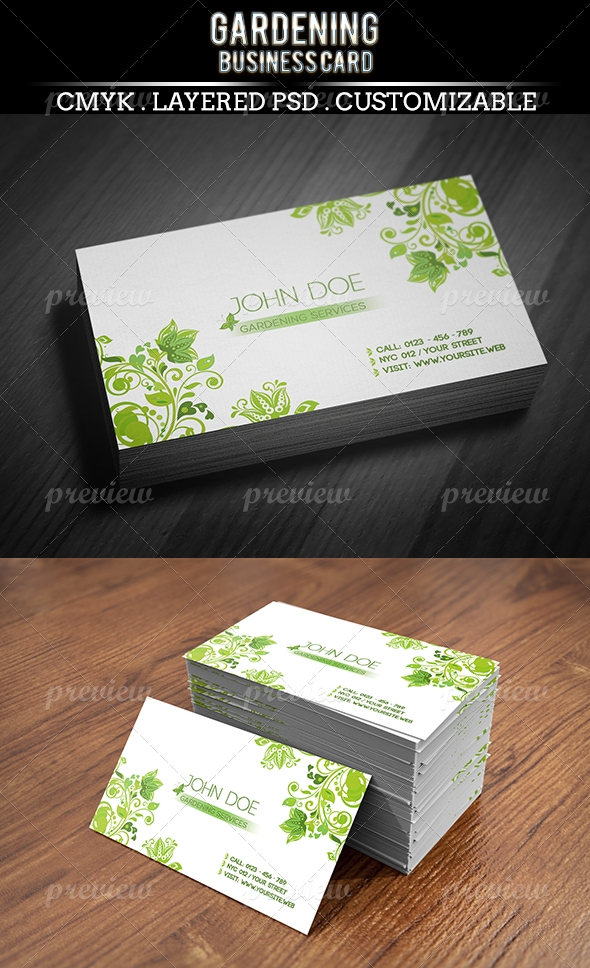Gardening Business Card - Print | CodeGrape
