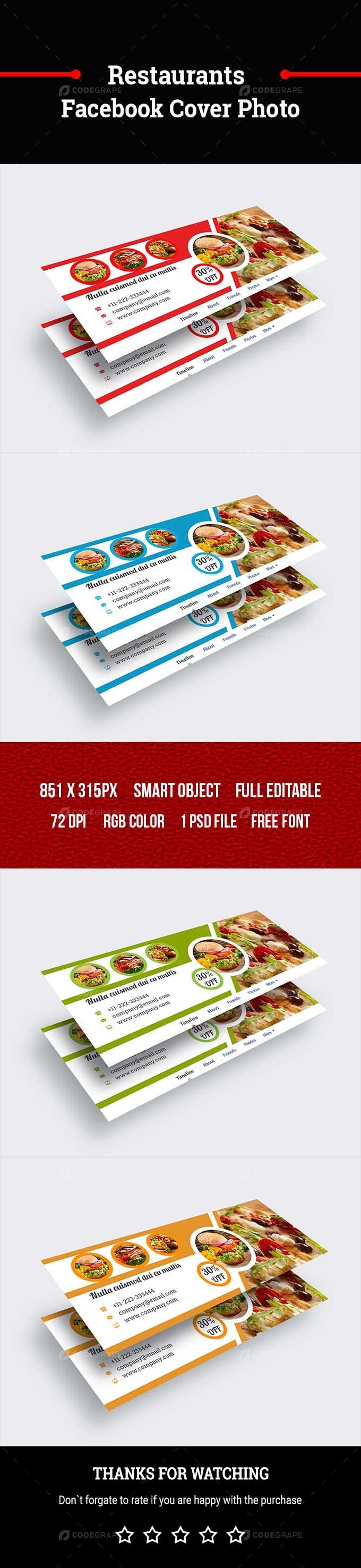 Restaurants Facebook Cover