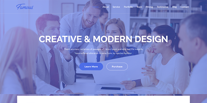 Famous - Digital Corporate Business Template