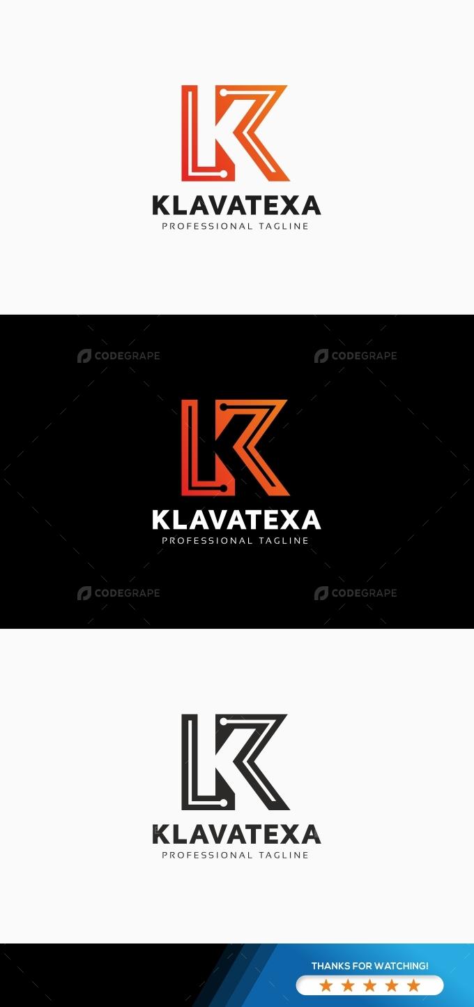 Klavatexa K Letter Logo