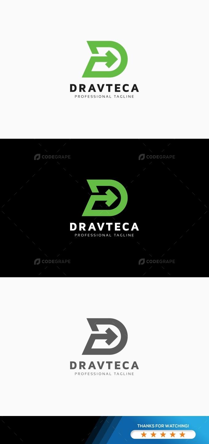 Dravteca D Letter Logo