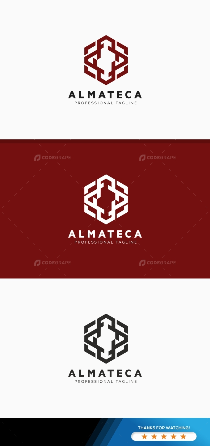 Almateca Hexagon Logo