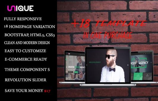 Unique Multi-purpose Agency And Creative Bootstrap HTML5 Template