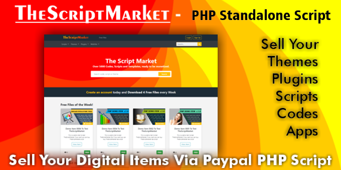 TheScriptMarket - Sell Digital Items via PayPal PHP Script