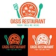 Oasis Restaurant Logo Design Template