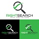 Corporate Right Search Logo Design Template