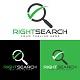 Corporate Right Search Logo Design Template