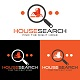 House Search Logo Design Template