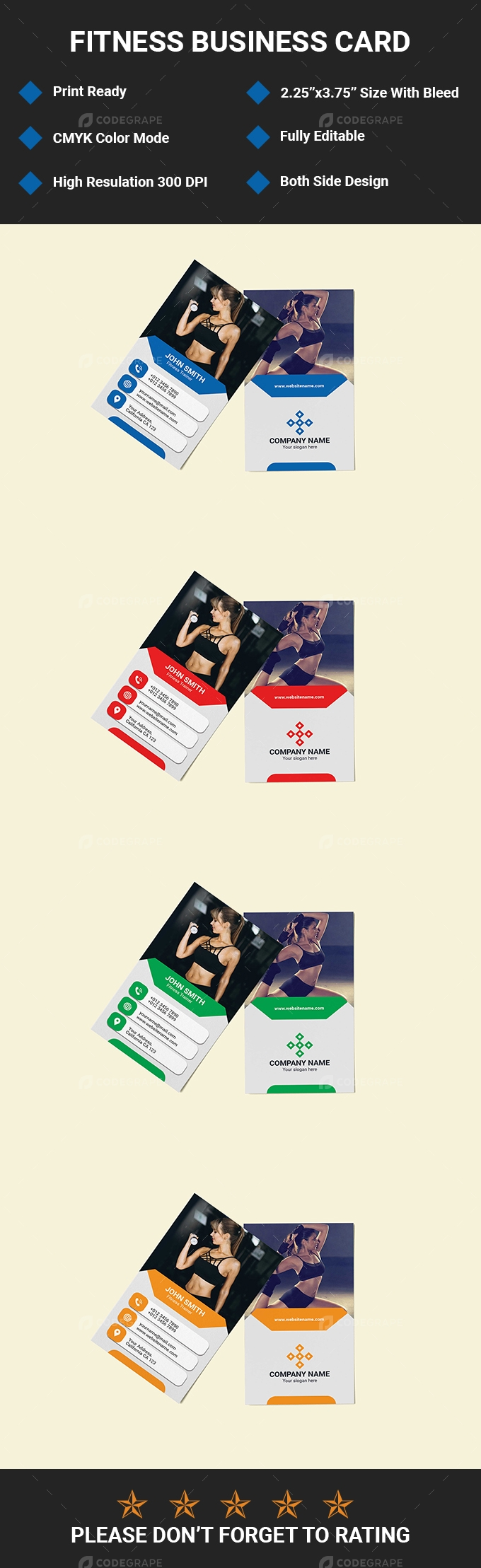 Fitness Business Card