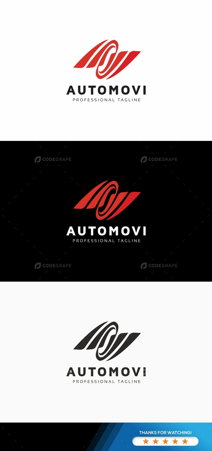 Automovi Wings Rotation Logo