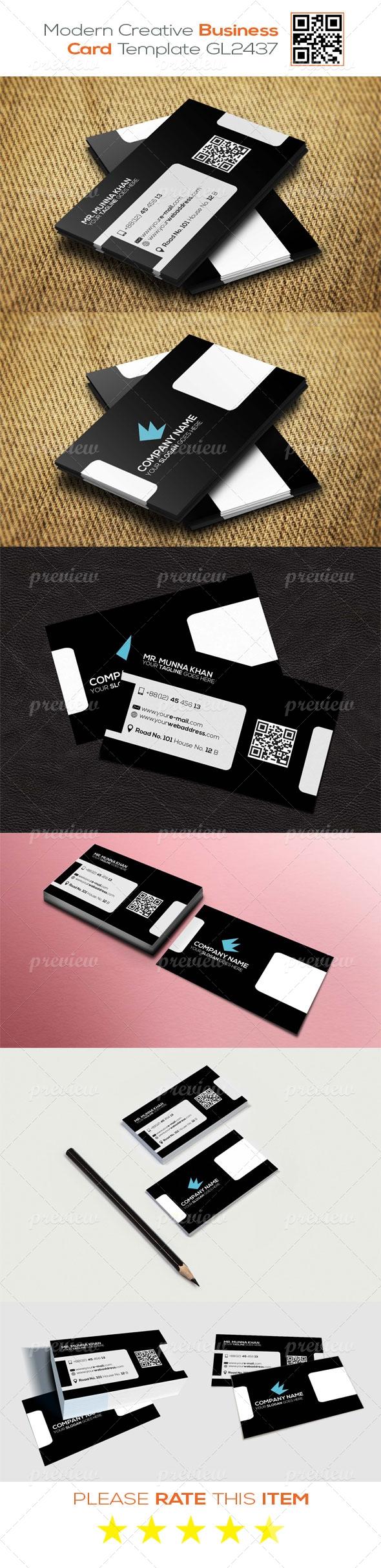 Modern Creative Business Card Template GL2437