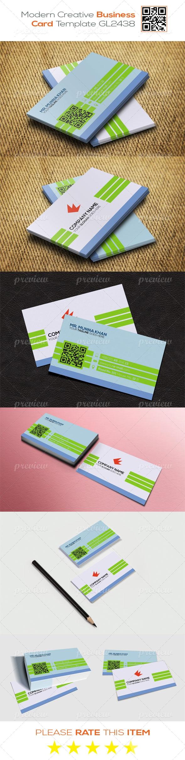 Modern Creative Business Card Template GL2438