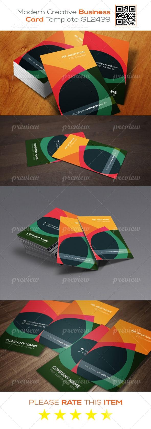 Modern Creative Business Card Template GL2439