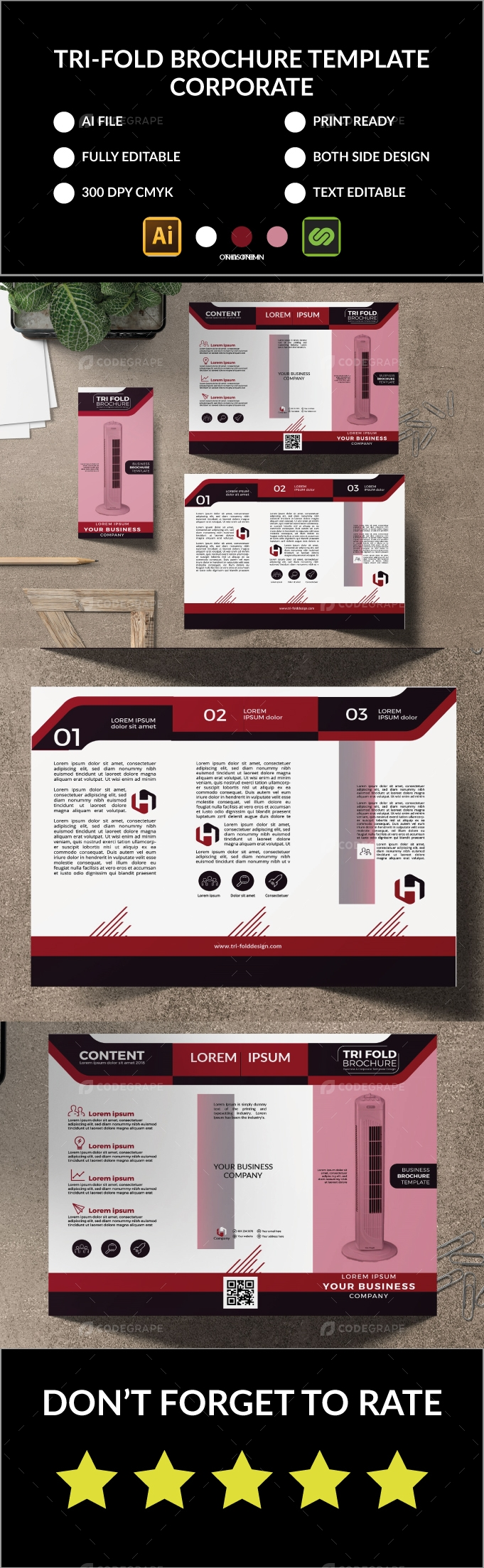 Real-State Tri-Fold Brochure