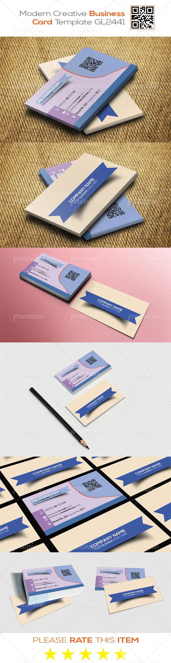 Modern Creative Business Card Template GL2441